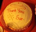 Sue's leaving cake
